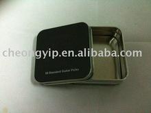guitar picks metal case tin box 50 pcs box can