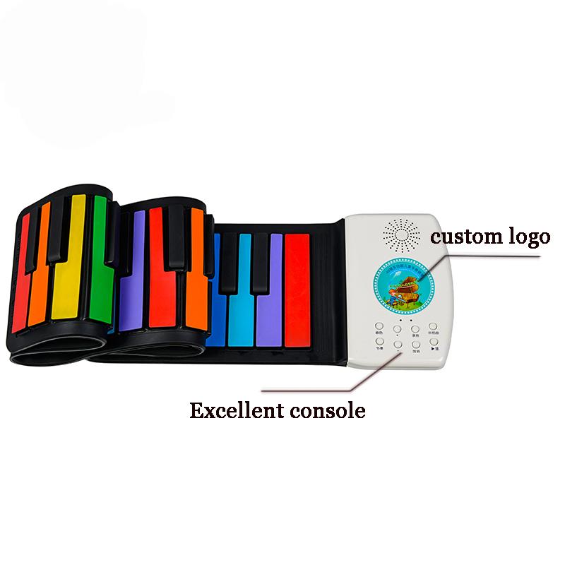 Apropriado para as crianças aprenderem a criar material de silicone de interface USB pode enrolar o piano digital