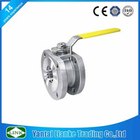 wafer type duplex stainless steel italy flanged ball valve dn40