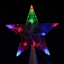 100-240V/EU LED Indoor Outdoor Christmas Tree Decoration Topper Star Lights Lamp TK1349