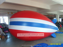 high quality inflatable pvc airship/rc pvc blimp outdoor/zeppelin /inflatable blimp for sale