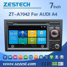 ZESTECH wholesale Chinese 2 din car dvd for AUDI A4(Unilateral button) with car dvd stereo radio Radio/TV AM/FM