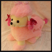 cute valentine day plush toys pug dog for girls gifts