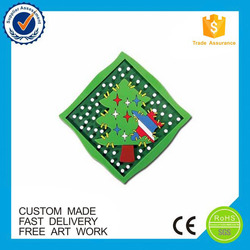 Promotional gifts Christmas tree custom pvc rubber fridge magnet