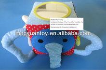 gris del elefante de peluche juguetes de peluche con larga nariz orejas grandes andplastic espejo