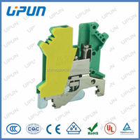 ground wire terminal blocks yellow green color 2.5mm2 with CE/UL/ROHS good quality from China manufacuturer UKJ-2.5JD