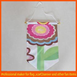 Custom printed pennant soccer flag
