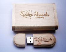 wholesale LOGO customized fashion wooden Box pen drive 8GB 16GB 32GB USB 2.0 usb Flash Drive pendrive thumb drive Memory stick