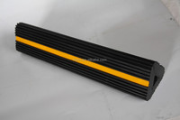 Black and Yellow Reflective Rubber Vehicle Block