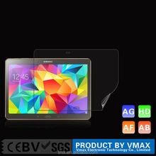 China factory price PET material anti fingerprint screen protector for samsung galaxy tab s2 screen film