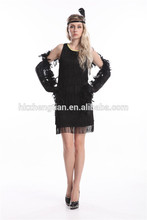 Sexy Plus Size Black flapper costumes adult Costume for women Holloween Fancy Dress Costume