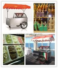 italian ice cream pushing carts/gelato display tricycles/popsicles display bikes(CE)