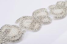 2015 crystal rhinestone bridal sash belt wedding accessories pearls white