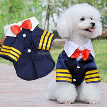 Factory Direct Cute Dog Clothing Navy Sailor Clothes for Dogs Cheap Pet Dog Clothing Apparel