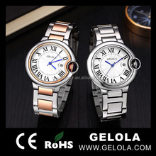 new arrival hot gift 2012 fashion alloy watch stainless steel back lovers watch