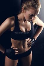 Preto poliéster Spandex de Fitness mulheres Ladies Top curto ginásio atacado nudez sutiã esportivo