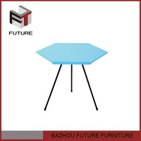 colorful hexagonal board coffee table