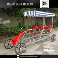 2015 hot!!!BRI-B04 four Wheel Seating for 4 Adults Surrey Bike for sale