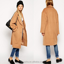 Wholesale latest design casual women long winter coat double- breasted coats and jackets HSC-3027