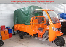 China cargo and passenger double use 3 wheel motor tricycle