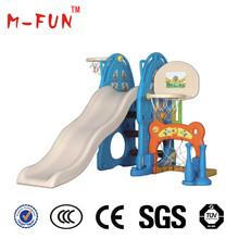 indoor/outdoor kids combo plastic slides wiht swings