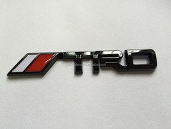 Glossy Black TRD car Emblem