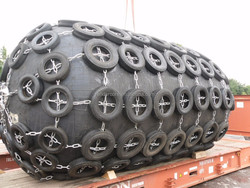 2000*3500mm floating high pressure inflatable cylindrical type rubber fenders
