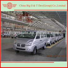 3 units JINBEI benzine passenger mini vans wrapped in a 40HQ container for adertising
