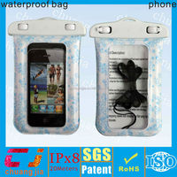 2014 underwater sports pvc waterproof pouch for mobile phone with lanyard