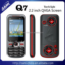 Low end Dual SIM Q7 Mobile phone with dual cameras analo TV bluetooth from China
