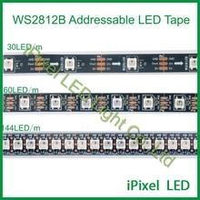 addressable black flex led strip ----DC5V ws2812b 30,60,144leds/m