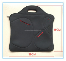 neoprene notebook laptop sleeves with shoulder straps and handle