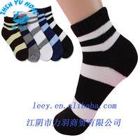 Striped Cotton Ankle Socks, Kids Sports Flat Dress, China Socks OEM Factory