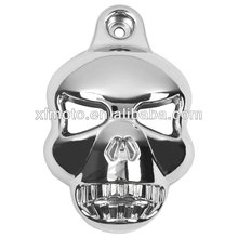 Chrome SKULL HORN COVER For Harley Sportster Dyna Softail Glide Ultra Road King motorcycle
