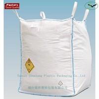 100% pp woven ton bag 1000kg FIBC super sacks for sand, plastic woven bag for lime, plastic woven big bag for gravel