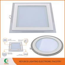 High brightness LED Lighting Aluminium glass 18w square led panel light