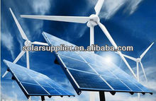 2kw 3kw 5kw verde de alimentación de energía del sistema con pequeña <span class=keywords><strong>turbina</strong></span> de viento y módulos solares