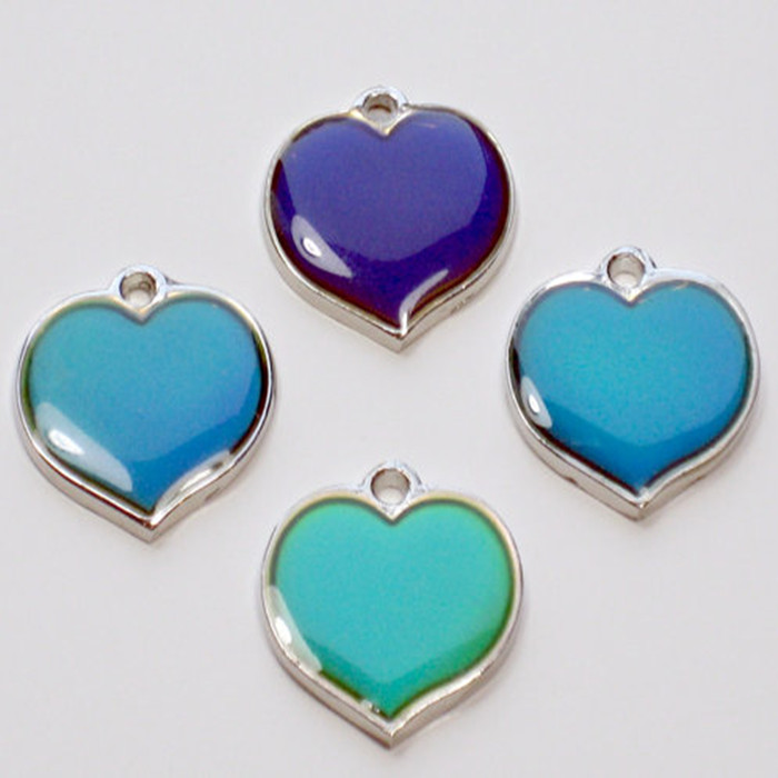 Fashion necklace enamel color changing heart shape mood for Fashion jewelry that won t change color