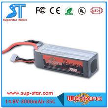 3000mAh 4S 35C Max 70C 14.8V T-Plug lithium ion battery NANO TECH RC