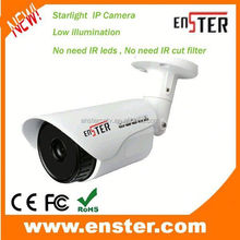 5mp ip camera Full color image at night & day 1.3 Megapixel Starlight Low illumination IP Camera with SONY CMOS sensor