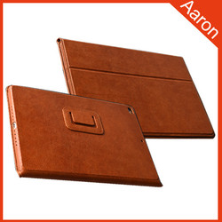 Genuine leather Standing leather case for ipad air 2