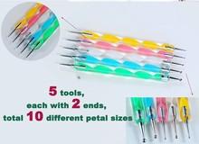 Nail Art PEN Tool Marbleizing Dotting SWIRL DOT 5 PENS