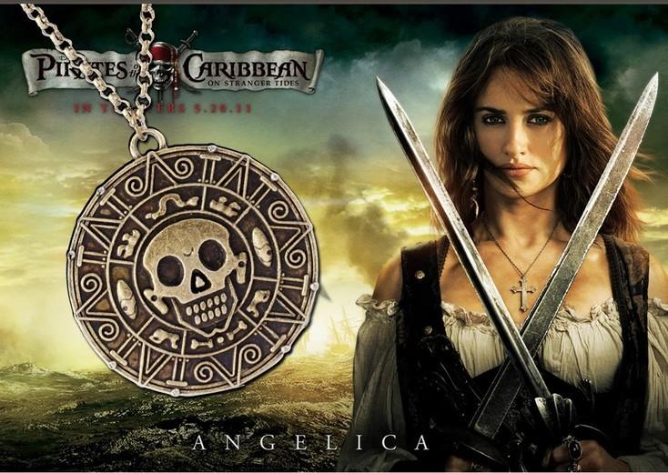 кулон «Монета ацтеков», ожерелье кланов ацтеков, кулон ацтеков, ожерелья с кинофильма Пираты Карибского моря, копия монеты ацтеков, монета, монета из фильма