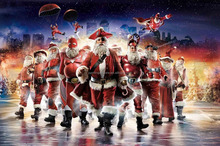 Christmas canvas Santa Claus posters