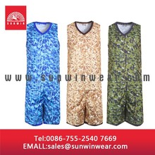Camo basketball jersey custom basketball jersey,sublimated custom camo basketball uniform
