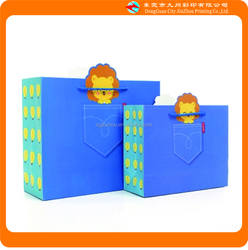 Smart shopping paper bag,decorative handmade 3d paper gift bags