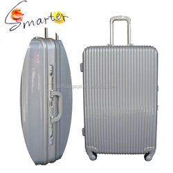 Silver matte pattern design abs luggage with factory price