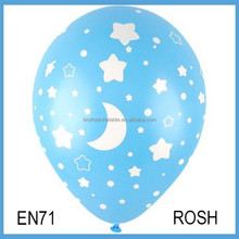 2.8g printed star and dots balloons for birthday for wedding day