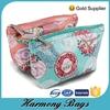 Fashion printed waterproof canvas cheap cosmetic bag