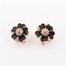 2015 Hot Selling Fashion Round Shaped Earrings,Blue stone 925 silver earrings,Gold Earrings